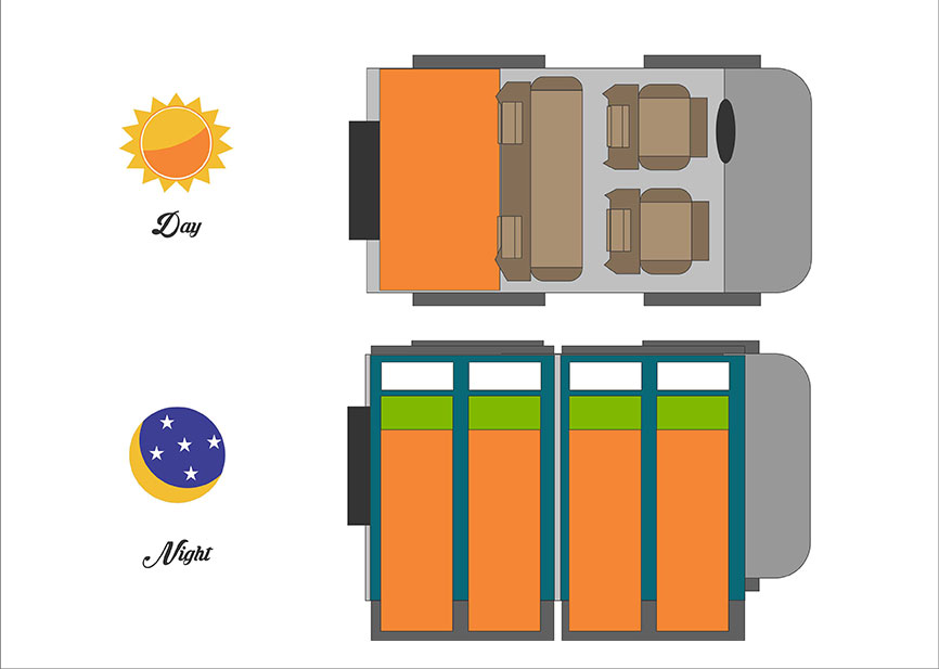 4-Berth-Land Cruiser Layout
